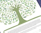 Ketubah Tree of life in g...