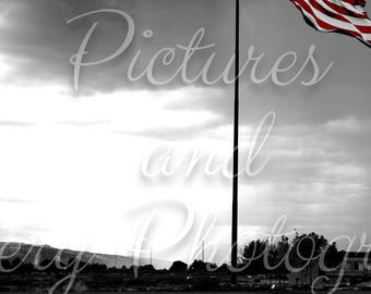 Color Pop American Flag Photography Print