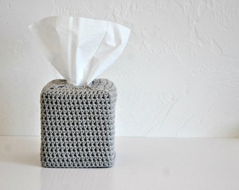 Cotton Tissue Box Cover Nursery Decoration Grey Home Decor Neutral Kleenex Box Cover