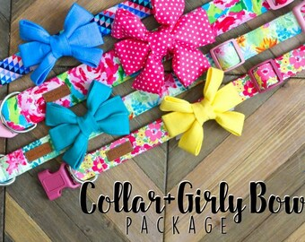 Collar + Girly Bow Package