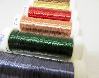 Metal Wire for Art / Wire Spool / Metal Wire / Flexible Wire Crochet / Craft Wire Jewelry Wire / Textile Art Material  Artistic Wire for Art