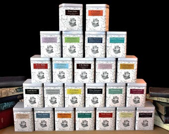 Literary Teas - Authors Gift - Tea Gift - Tea - Bookish Gift - Literary Gift - Tea Gift -