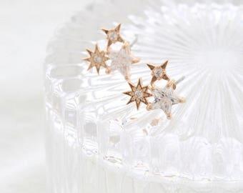 three star earring