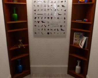 A Pair Of Danish Corner Units/Shelves In Teak Mint Condition