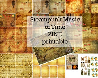 Steampunk Music of Time ZINE Printable- link