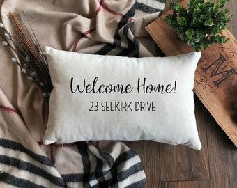 Welcome Home Pillow | Decorative Welcome Home Pillow | Housewarming Gift | Vintage Throw Pillow | Throw Pillows