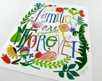 Families Are Forever - 8 1/2 x 11 art print signed by Aimee Ferre