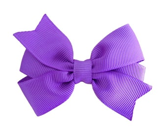 Lilac hair bow - hair bows, hair bow, bows, hair bows for girls, baby bows, hair clips, pigtail bows, baby hair bows, girls hair bows