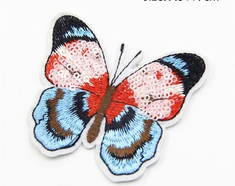 Sequin Patch, Butterfly Sequin Embroidery Patch,Cute Butterfly Patch,Fashion Sequin Embroidered Applique ,Iron on Patch