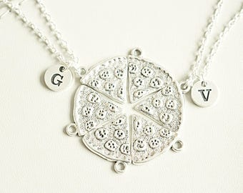 6 Pizza Slices Necklaces - Friendship Necklaces T1VvmWr
