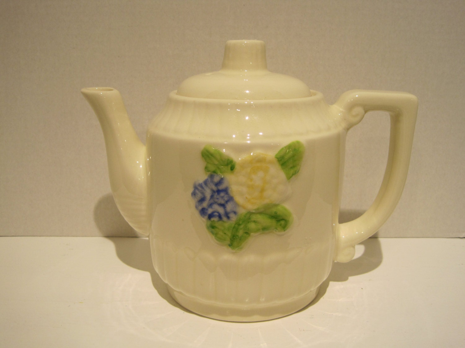 FRAUNFELTER Depression Era Thermo-Proof Ivory Teapot Coffee