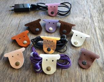 cord organizer, earbud holder, leather cord organizer, Dog Cord holder, electronic organizer travel, organizador cable, leather earbud case