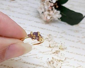 Raw Ruby Ring, Raw Gemstone Ring, Ruby Ring, Raw Ruby Jewelry, July Birthstone Ring, Rough Ruby Ring, Ruby Birthstone, Bohemian Rings, Ruby