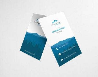 Mountain Theme Business Card