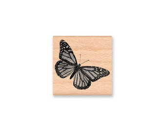 Monarch Butterfly -  wood mounted rubber stamp(17-10)