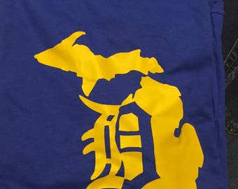 Detroit D Michigan T shirt