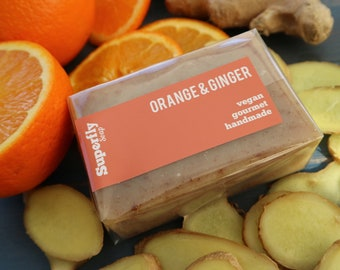 Orange & Ginger Soap / Handmade Cold Process Soap / Natural Vegan Soap Artisan