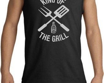 Men's Funny Tanktop King of the Grill Tank Top KINGOFGRILL-2200