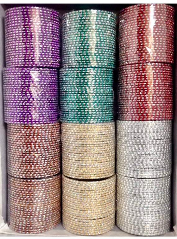 Dill Multi colour indian bangles box, 288 piece Bollywood style bangles set