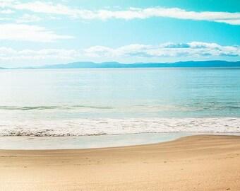 ocean photography beach nautical decor Fine art photography abstract 8x10 8x12 inch coastal print blue pastel summer teal wall art sky sea