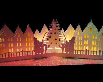 3D SVG Pop up card Christmas Carols