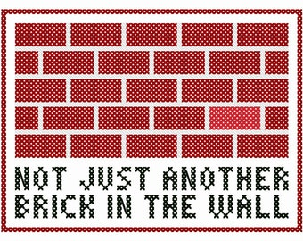 """Not Just Another Brick in the Wall - Original Cross Stitch Chart 
