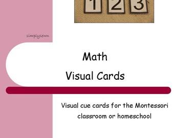 Montessori Visual Schedule Cards - Math
