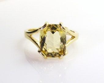 Yellow Aquamarine Ring.