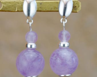 "Elly Silver 925 ""studs"" in the Brazil amethysts"