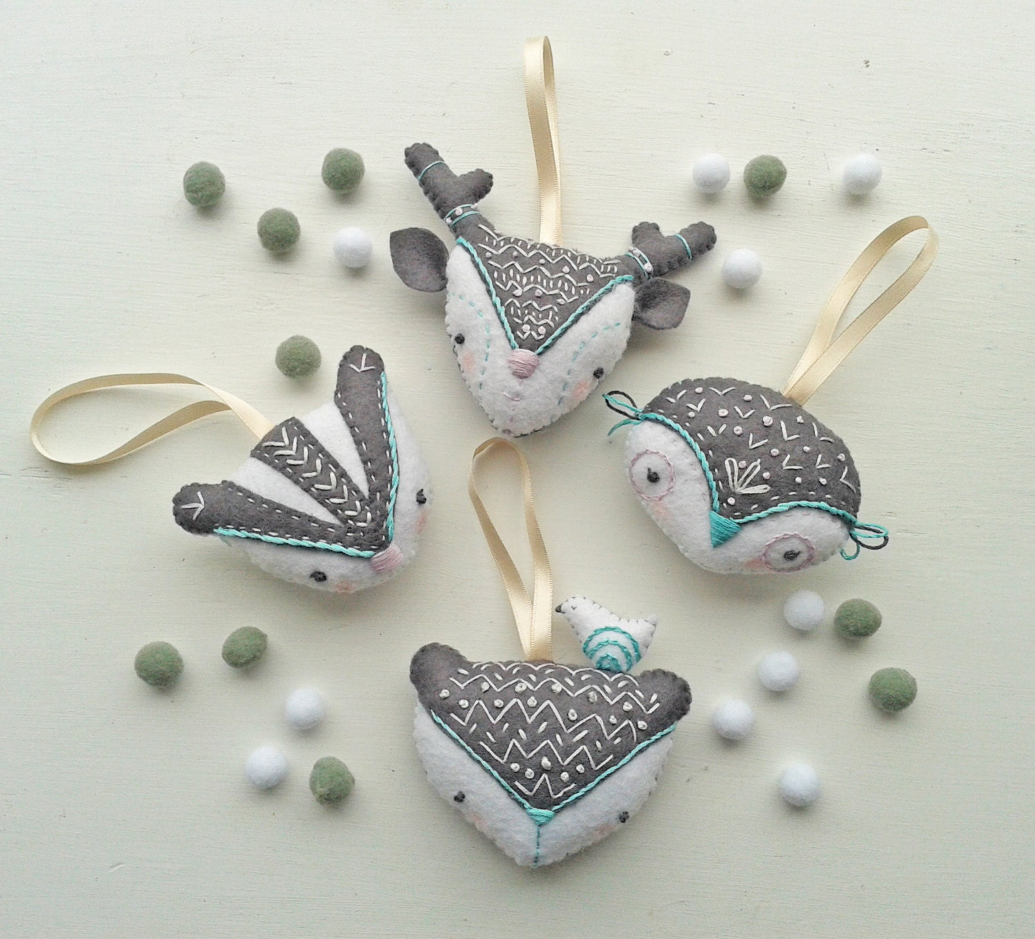 DIY Holiday Ornament. Winter Woodland Christmas decorations.Pdf ...