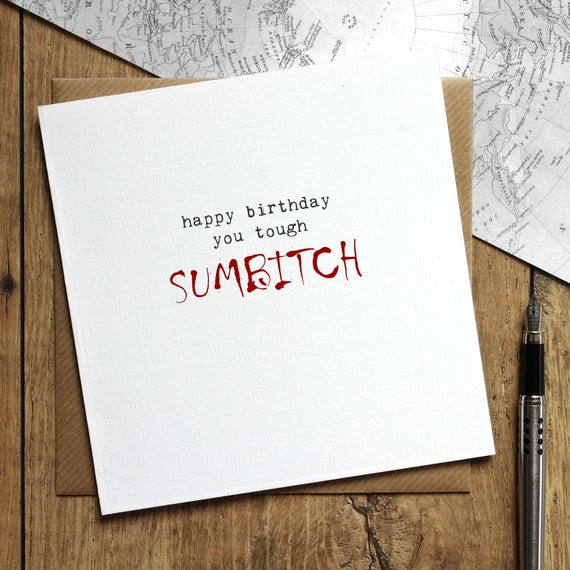 Walking dead birthday card tough sumbitch daryll birthday m4hsunfo