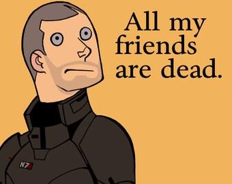 All My Friends Are Dead Male Sticker