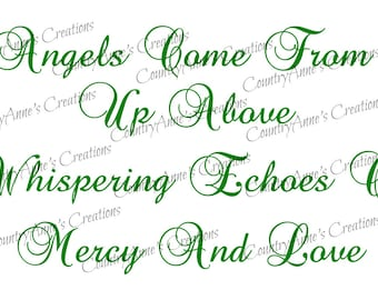 SVG PNG DXF Eps Ai Wpc Cut file for Silhouette, Cricut, Angels and Echoes svg