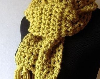 Market Scarf in Citrine Lemon Sunshine Yellow