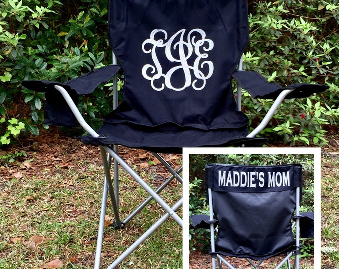 Monogrammed Chair, Camp Chair, Softball, Baseball, Groomsman gifts, Wedding gifts, Coaches chair, Soccer Mom Personalized Chair