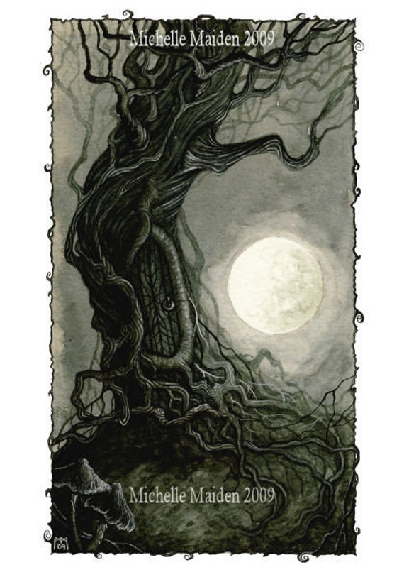 sc 1 st  Etsy & Faerie Door PRINT fairy tree door enchanted doorway fantasy