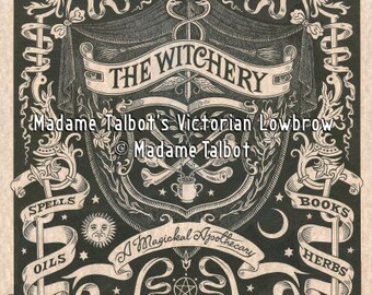 The Witchery Magical Apothecary Witchcraft Wicca Magick Spells Victorian Lowbrow Poster