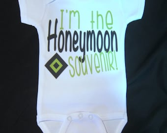 I'm the Honeymoon souvenir one piece novelty gift married wedding new baby pregnancy announcement