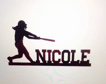SOFTBALL Cake Topper for your Sports Fan/Player in Sparkling Glitter!