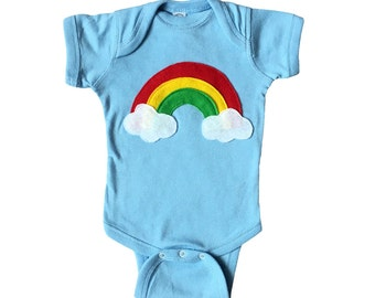 Aloha Rainbow - Baby Blue Baby Bodysuit – Boys or Girls