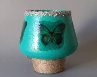 Butterfly Vase (Blue/Green)