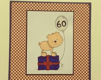 60th BIRTHDAY - Handmade Card