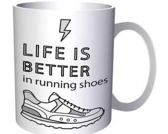 Life Better Running Shoes 11oz Mug p629