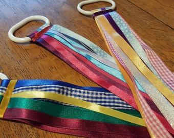 Dance Sensory Ribbon Stocking Play Therapy Twirling Rhythm Christmas Rainbows Montessori Dancing Toddler Preschool Children
