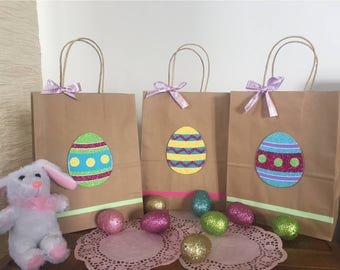 Easter gift etsy easter gift bags easter favor bags easter eggs happy easter easter goodie negle Choice Image
