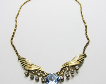 Vintage - Collectible - Van Dell Necklace - Jewelry - Gold - Gold Filled - Rhinestone - Necklace - Flawless - Unique - Super - Women - Gift