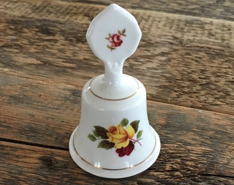 Staffordshire Fine Bone China Pottery Bell from the 70's. Very Colorful Detail.