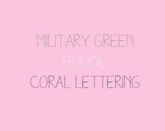 Military Green & Coral