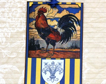 French Country Provencial  Rooster Gift Tags