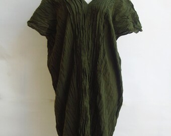 D3, Free Size Free Spirit Spring Green Cotton Dress
